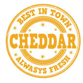 Cheddar stamp — Vector de stock