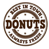 Donuts stamp — Stock vektor