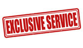 Exclusive service stamp — Stock Vector