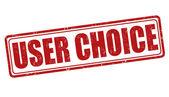 Gebruiker keuze stempel — Stockvector
