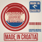 Made in Croatia stamp and labels — Stock Vector