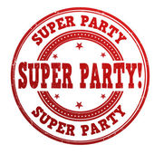 Super party stamp — Stock Vector