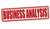 Business analysis stamp — Stock Vector