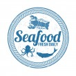 Seafood stamp — Stock Vector #43963489