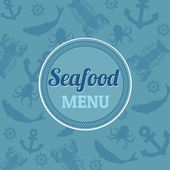 Seafood menu — Stockvektor