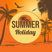 Summer holiday poster — Stock Vector
