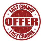 Last chance offer stamp — Stock Vector
