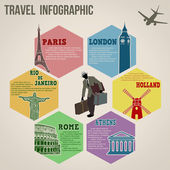 Voyage info graphique webdesign — Vecteur