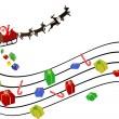 fondo musical de Navidad — Vector de stock  #4420708
