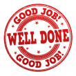 Good job well done stamp — Stock Vector #44559101