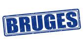 Bruges stamp — Stock Vector