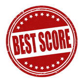 Best score stamp — Stock Vector