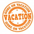 ������, ������: Gone on vacation stamp
