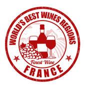 France, finest wine — Stock Vector