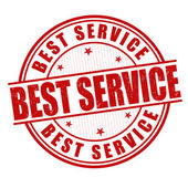 Best service stamp — ストックベクタ
