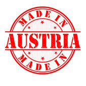 Made in Austria stamp — Stock Vector
