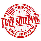 Free shipping stamp — Stockvektor