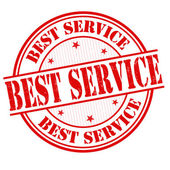 Best service stamp — Stock Vector