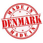 Made in dänemark-briefmarke — Stockvektor