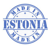 Made in Estonia stamp — Stock Vector