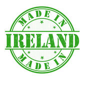 Made in Ireland stamp — Stock Vector
