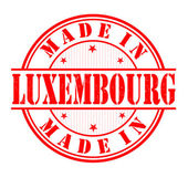 Made in Luxembourg stamp — Stock Vector
