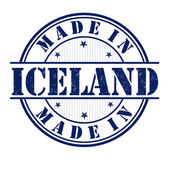 Made in Iceland stamp — Stock Vector