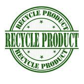 Recycling-produkt-stempel — Stockvektor