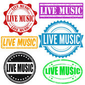 Live music stamp — Stock Vector
