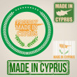 Made in Cyprus stamps and labels — Stock Vector