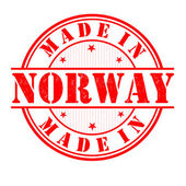 Made in Norway stamp — Stock Vector