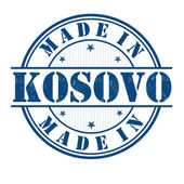 Made in Kosovo stamp — Stock Vector