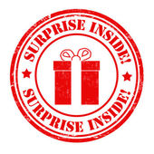 Surprise inside stamp — Stock Vector