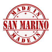 Made in San Marino stamp — Stock Vector