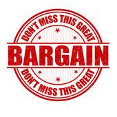 Bargain stamp — Stock Vector