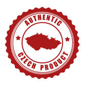 Authentic Czech product stamp or label — Stock Vector