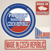Made in Czech Republic stamps and labels — Stock Vector