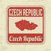 Czech Republic stamp — Stock Vector