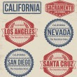 Set of California cities stamps — Stock Vector #45782907