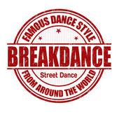 Breakdance stamp — Stock Vector