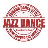 Jazz dance stamp — Stock Vector
