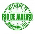 Welcome to Rio de Janeiro stamp — Stock Vector #45998605