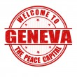 Welcome to Geneva stamp — Stock Vector #45998867