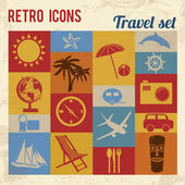 Travel icons set — Stok Vektör