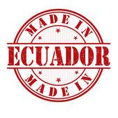 Made in Ecuador stamp — Stock Vector
