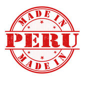 Made in Peru stamp — Stock Vector