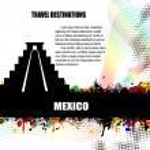 Mexico grunge poster — Stock Vector