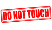 Do not touch stamp — Stock Vector