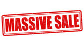 Massive sale stamp — Stock Vector