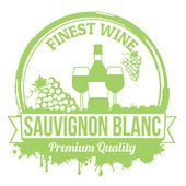Sauvignon blanc stamp — Stock Vector